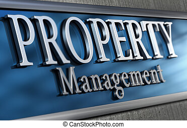 Property Management Company - Close up of an office facade...
