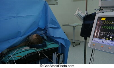 """surgery operation, general view in hospital"""