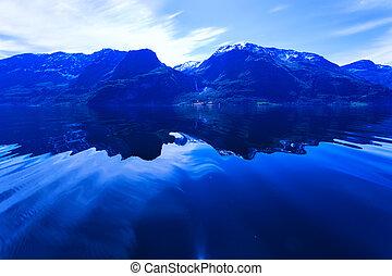 Norwegian fjord - beautiful view of the Norwegian fjord...