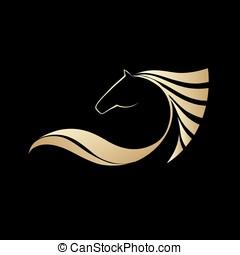 Pferde welt - Symbolic image horse, icon design, logo and...