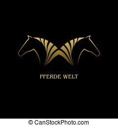 Pferde welt - Symbolics with the image horses, vector