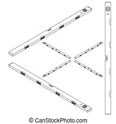 set tools isometric on a white background - set tools on a...