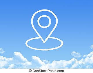 pointer button cloud shape