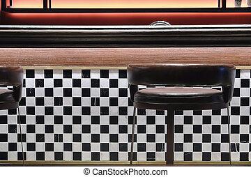 Classic Retro Diner Stools