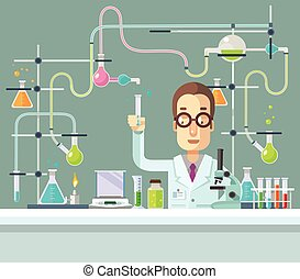 Medical Laboratory Vector flat illustration