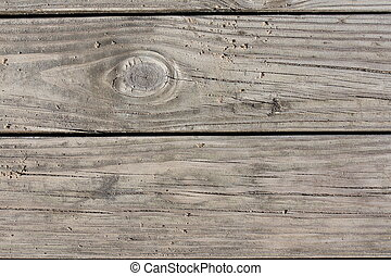 Weathered Wooden Dock Boards Background - Up close photo of...