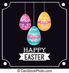 happy easter design, vector illustration eps10 graphic