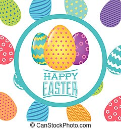 happy easter design - happy easter design, vector...