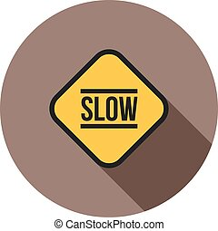 Slow, sign, down icon vector image Can also be used for...