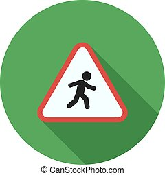 Pedestrian, road, sign icon vector image Can also be used...