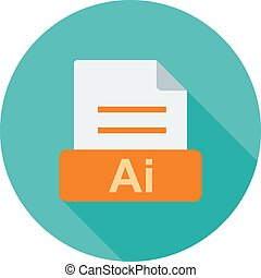AI, file, extension icon vector image Can also be used for...