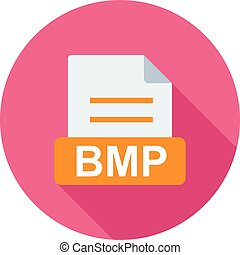 BMP, file, extension icon vector image Can also be used for...