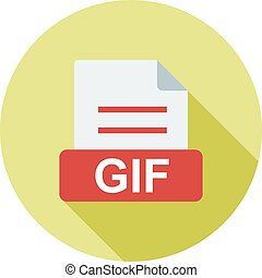 GIF, website, navigation icon vector image. Can also be used...