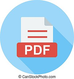PDF, file, extension icon vector image Can also be used for...