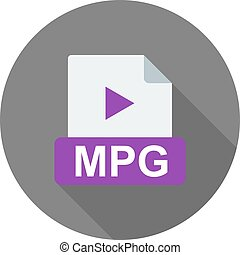 MPG, player, movie icon vector image. Can also be used for...