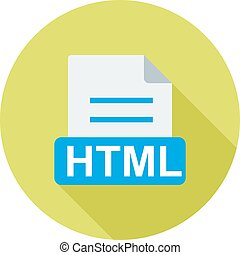 HTML, file, extension icon vector image Can also be used for...
