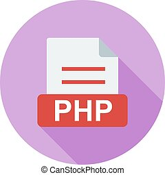PHP, web, programming icon vector image. Can also be used...