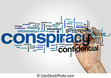 Conspiracy word cloud - Conspiracy concept word cloud...