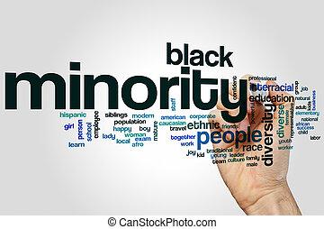 Minority word cloud concept