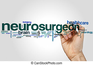 Neurosurgeon word cloud concept