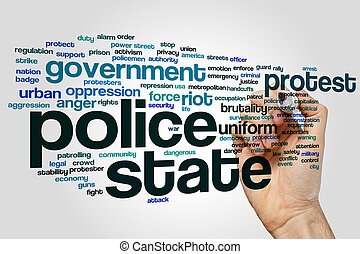 Police state word cloud - Police state concept word cloud...