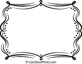 Decorative frame vintage doodle design vector