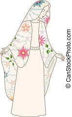 Virgin Mary vintage - Vector Virgin Mary vintage