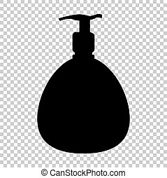 Black vector icon isolated on transparent background - Gel,...