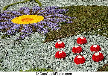 Artistic flower arrangement pattern background Landscape-gardening
