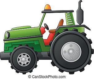 Farm tractor - vector illustration of Farm tractor