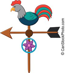 weather vane illustration - vector illustration of weather...
