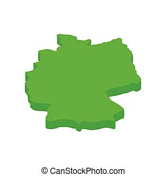 Map of Germany isometric 3d icon
