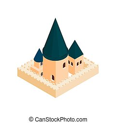 Roman Catholic church isometric 3d icon