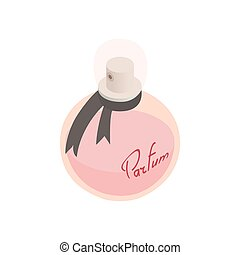 Pink female perfume flacon with sprayer icon - Pink female...