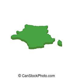 Map of France isometric 3d icon