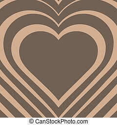 Vector illustration of beige heart.