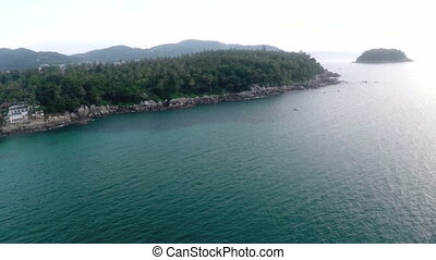 Phuket Island aerial view - Ocean view of the Phuket island...