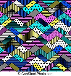 geometric patchwork pattern in bright colors