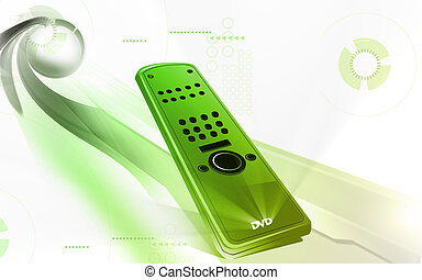 Remote control - Illustration of a remote control isolated