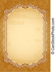 old-fashioned background - Vector illustration -...
