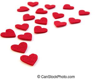 Red hearts - A lot of red hearts. All isolated on white...