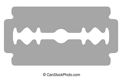 Razor blade - Vector illustration of a sharp razor blade