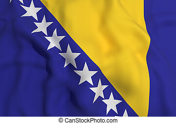 bosinia herzegovina flag - 3d rendering of a bosnia...