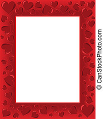 Valentines Card - Valentines day background frame with heart...
