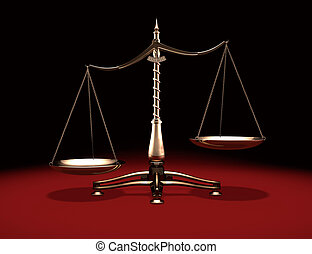 Brass Weight Scales - Biased brass weight scales Law and...
