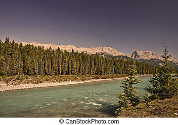 Bow River - Banff National Park - Alberta - Canada