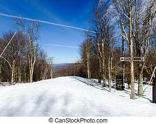 beautiful winter landscape at timberline west virginia