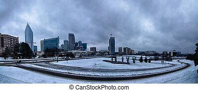 シャーロット, 北, 冬, 天候, まれである, カロライナ