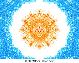 Abstract background with concentric pattern
