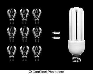Energy Saving Light Bulb - An energy saving light bulb...